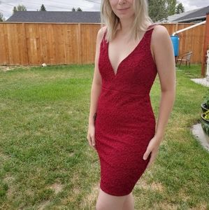 Red dress from Lulus